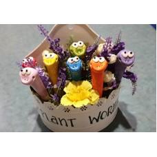 Pot Plant Worms - Glazed